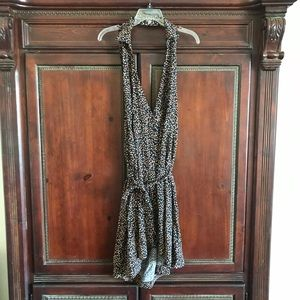 NEW Free People Floral Backless Button Dress Large
